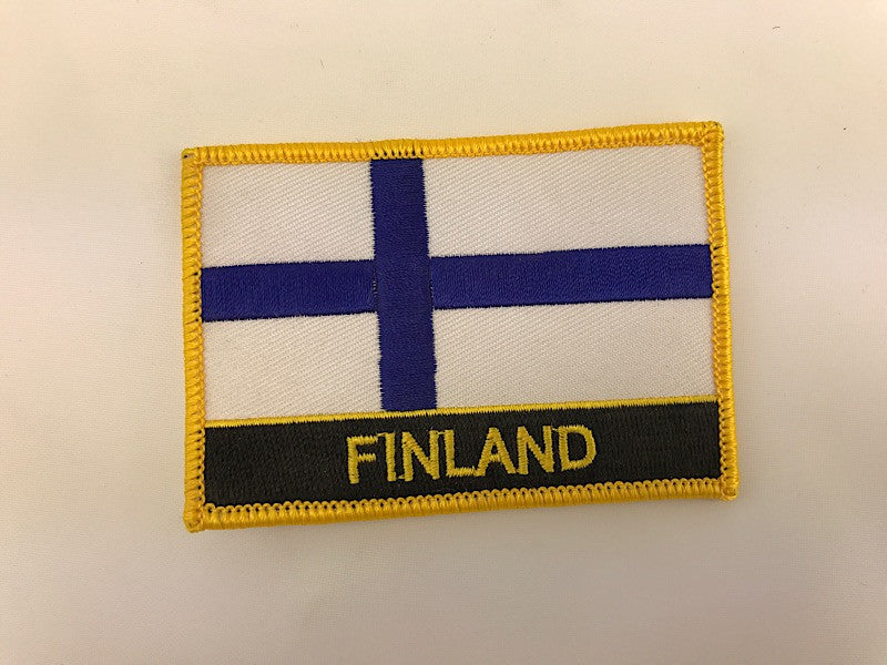 "2 1/4"" X 3"" Finland Flag Embroidered Patch"