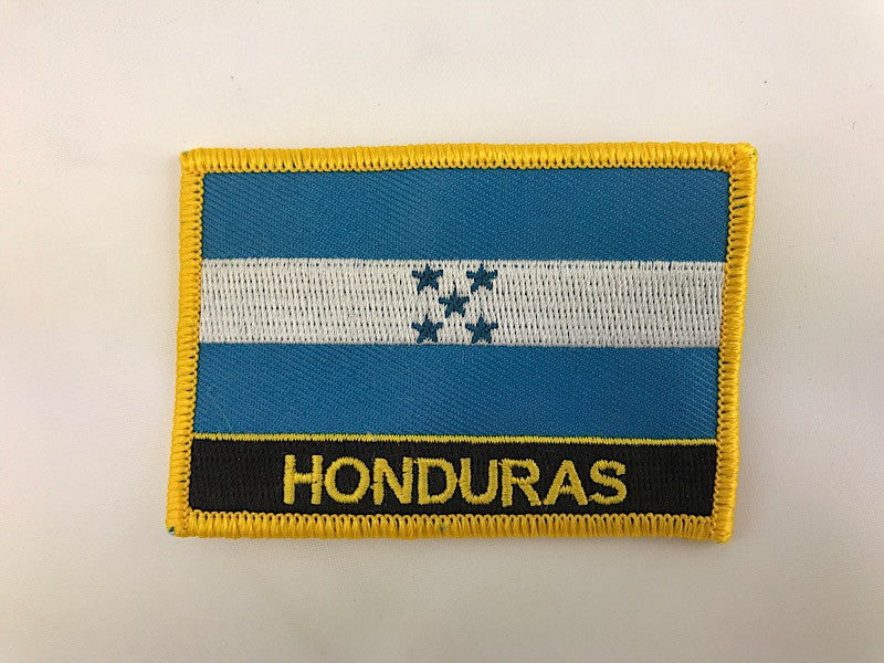 "2 1/4"" X 3"" Honduras Flag Embroidered Patch"
