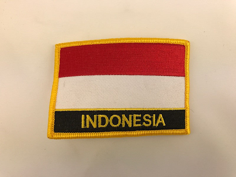 "2 1/4"" X 3"" Indonesia Flag Embroidered Patch"