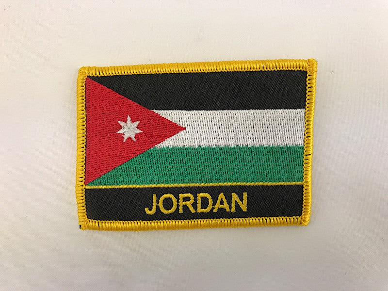 "2 1/4"" X 3"" Jordan Flag Embroidered Patch"