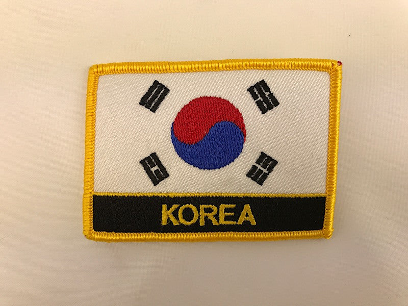 "2 1/4"" X 3"" Korea Flag Embroidered Patch"