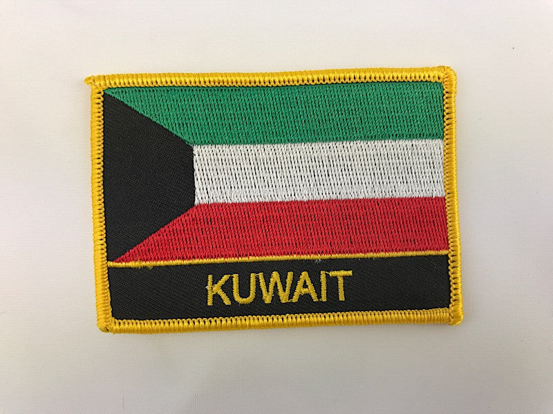 "2 1/4"" X 3"" Kuwait Flag Embroidered Patch"