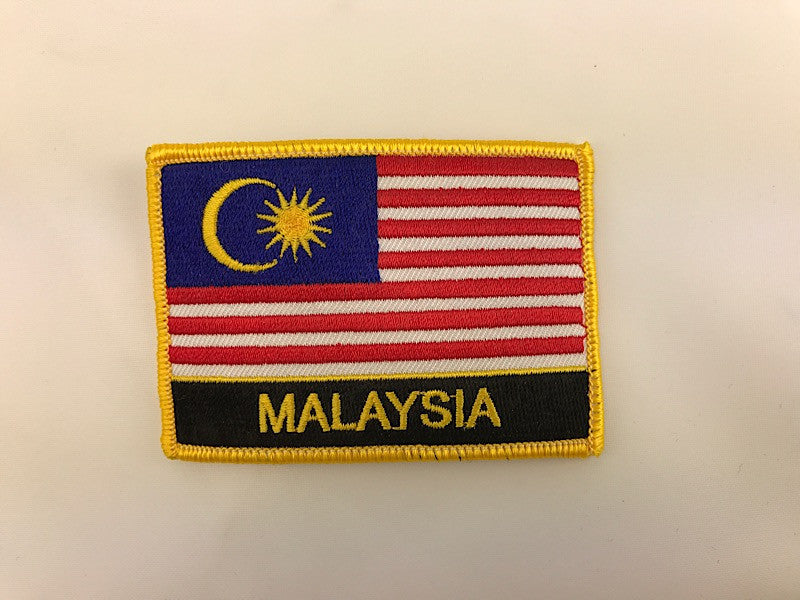 "2 1/4"" X 3"" Malaysia Flag Embroidered Patch"