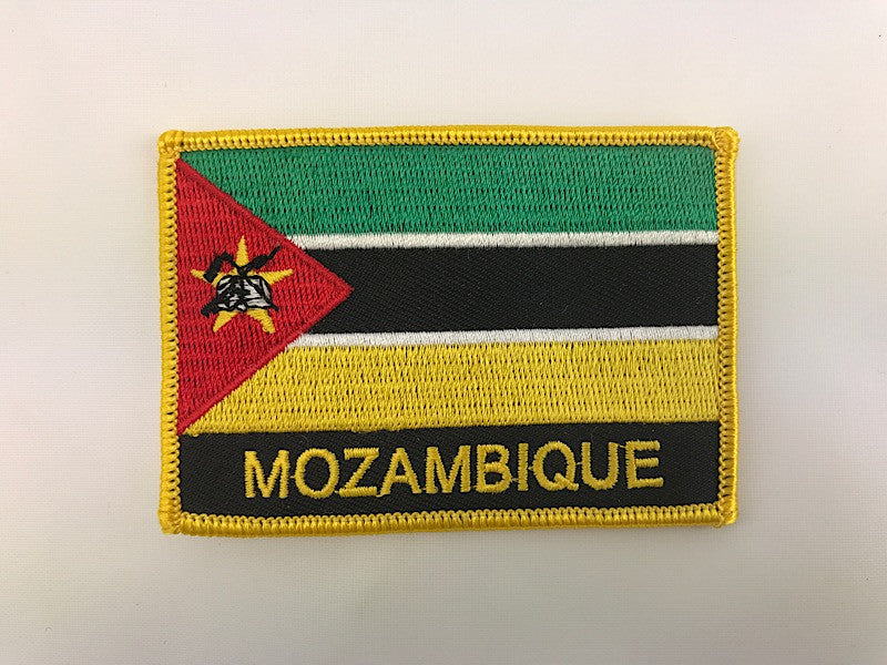 "2 1/4"" X 3"" Mozambique Flag Embroidered Patch"