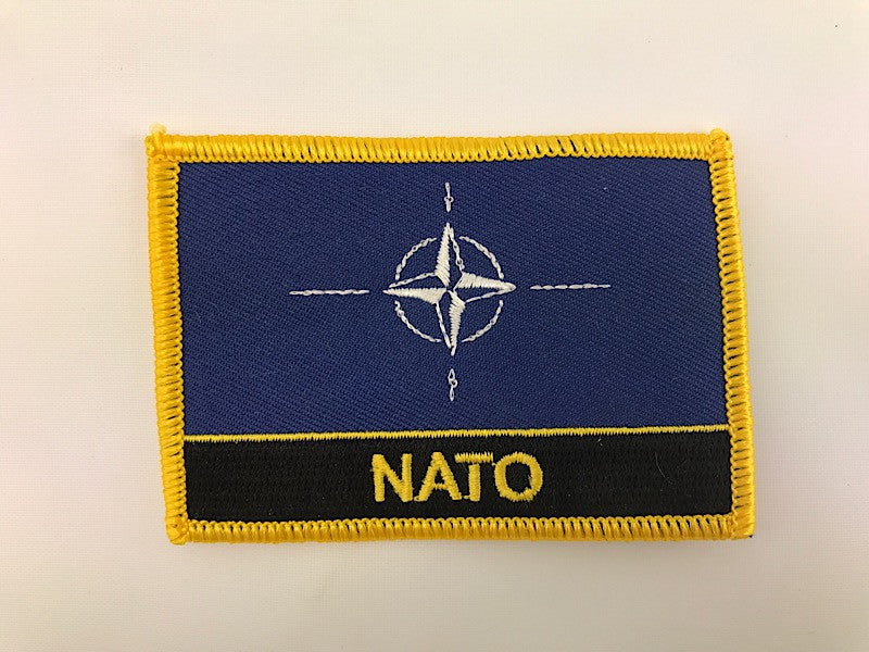 "2 1/4"" X 3"" Nato Flag Embroidered Patch"