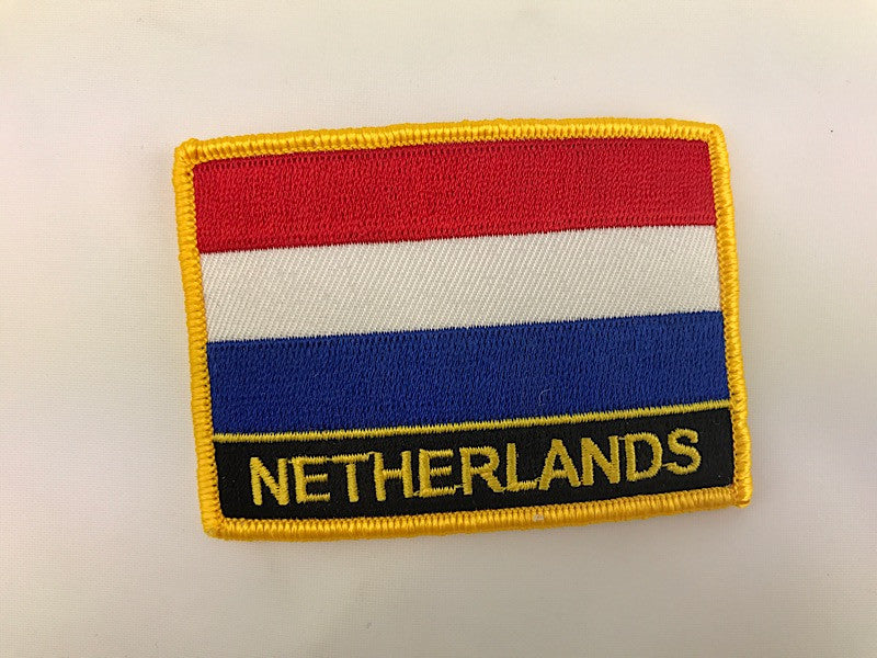 "2 1/4"" X 3"" Netherlands Flag Embroidered Patch"
