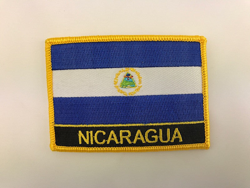 "2 1/4"" X 3"" Nicaragua Flag Embroidered Patch"