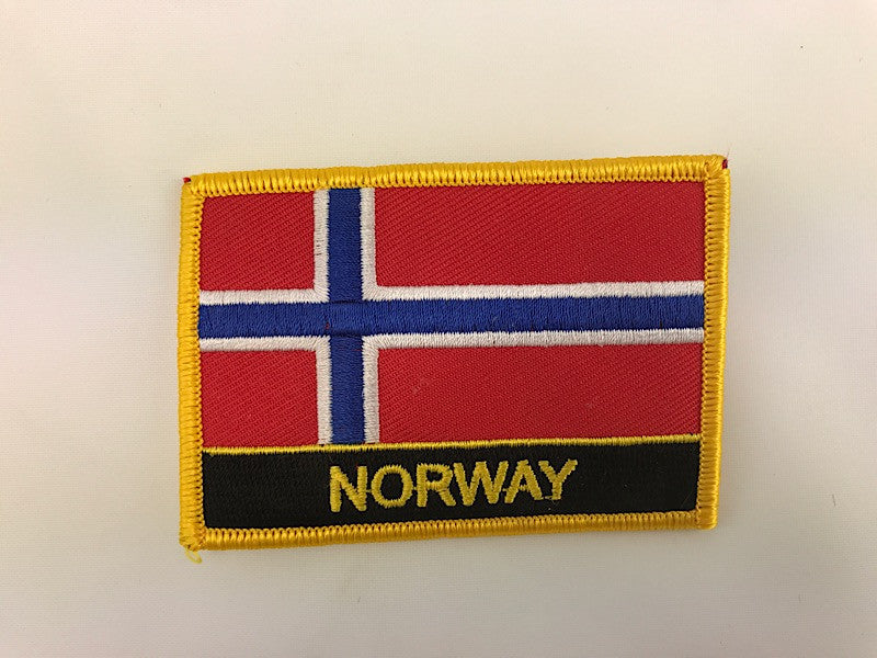 "2 1/4"" X 3"" Norway Flag Embroidered Patch"