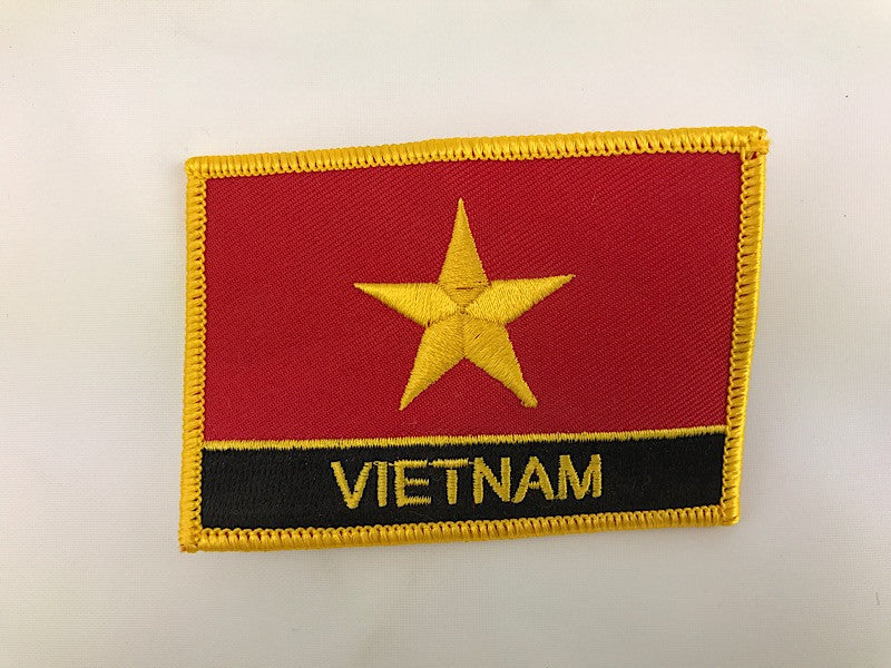 "2 1/4"" X 3"" Vietnam Flag Embroidered Patch"