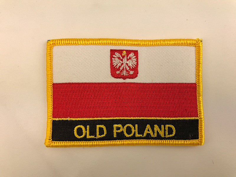 "2 1/4"" X 3"" Old Poland Flag Embroidered Patch"