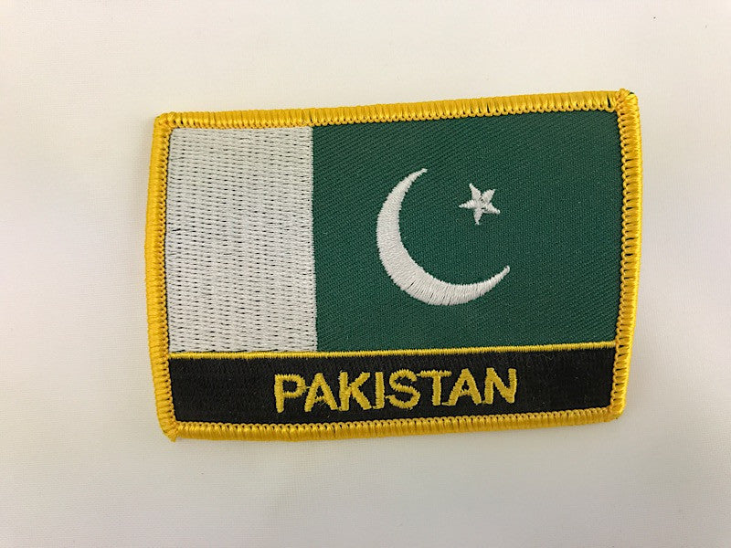"2 1/4"" X 3"" Pakistan Flag Embroidered Patch"