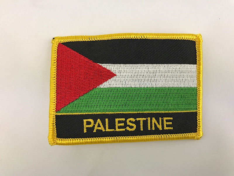 "2 1/4"" X 3"" Palestine Flag Embroidered Patch"