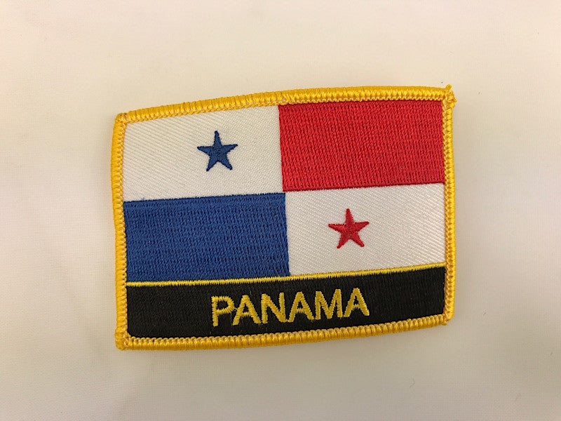 "2 1/4"" X 3"" Panama Flag Embroidered Patch"