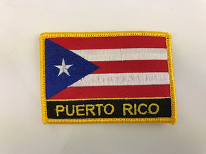 "2 1/4"" X 3"" Puerto Rico Flag Embroidered Patch"