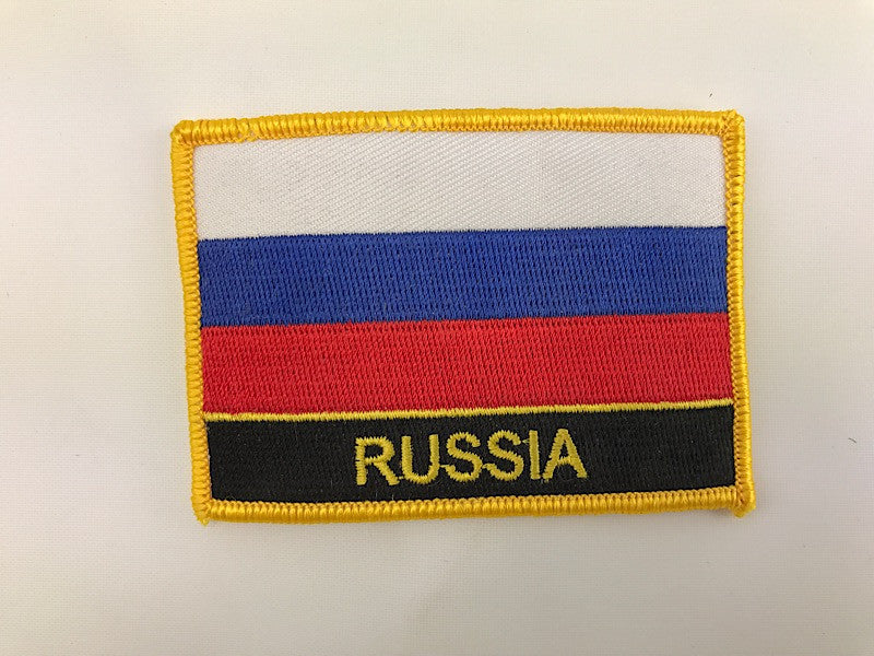 "2 1/4"" X 3"" Russia Flag Embroidered Patch Russian"