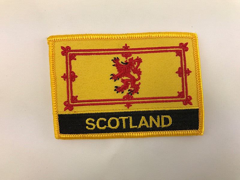 "2 1/4"" X 3"" Scotland Flag Embroidered Patch"