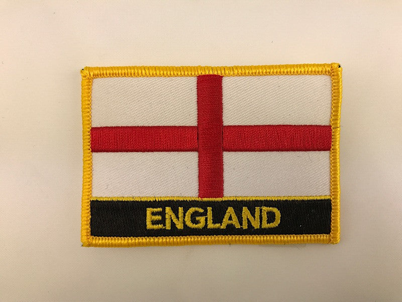 "2 1/4"" X 3"" England Flag Embroidered Patch"