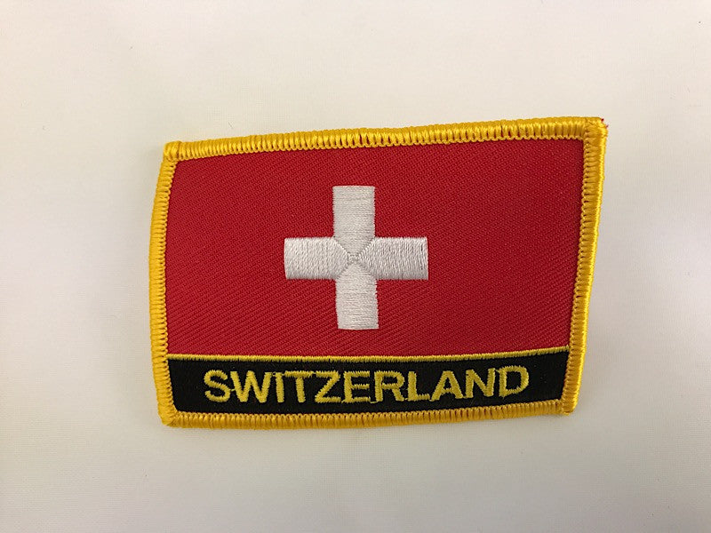 "2 1/4"" X 3"" Switzerland Flag Embroidered Patch"