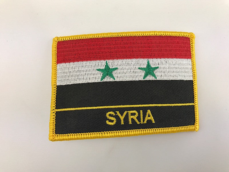 "2 1/4"" X 3"" Syria Flag Embroidered Patch"