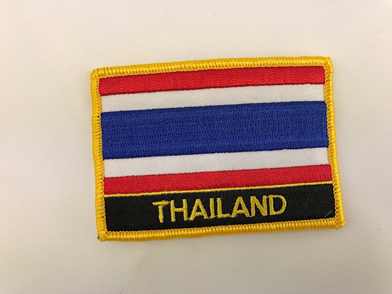 "2 1/4"" X 3"" Thailand Flag Embroidered Patch"