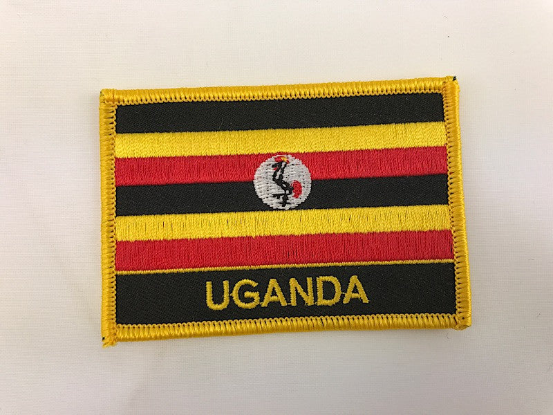 "2 1/4"" X 3"" Uganda Flag Embroidered Patch"