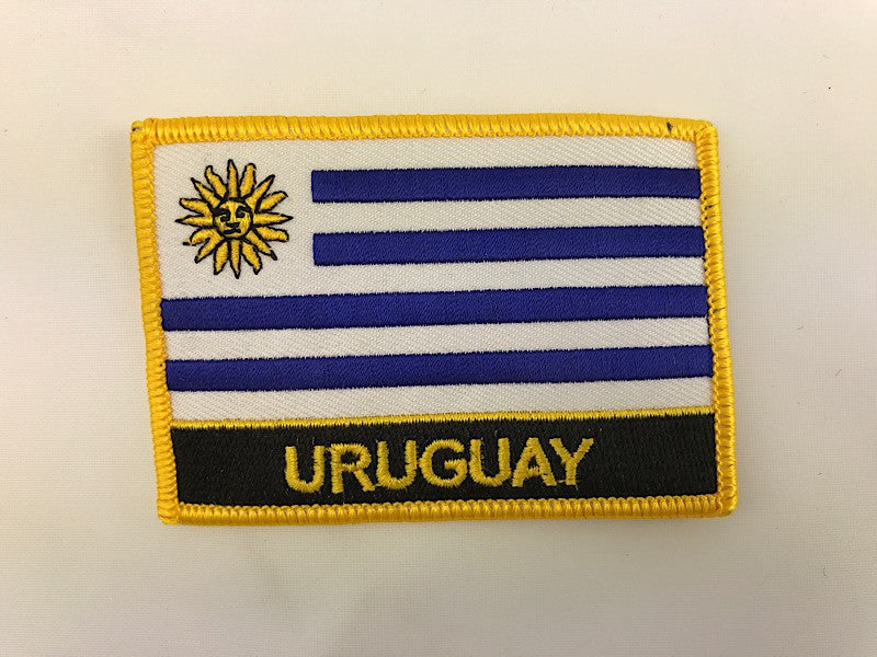 "2 1/4"" X 3"" Uruguay Flag Embroidered Patch"
