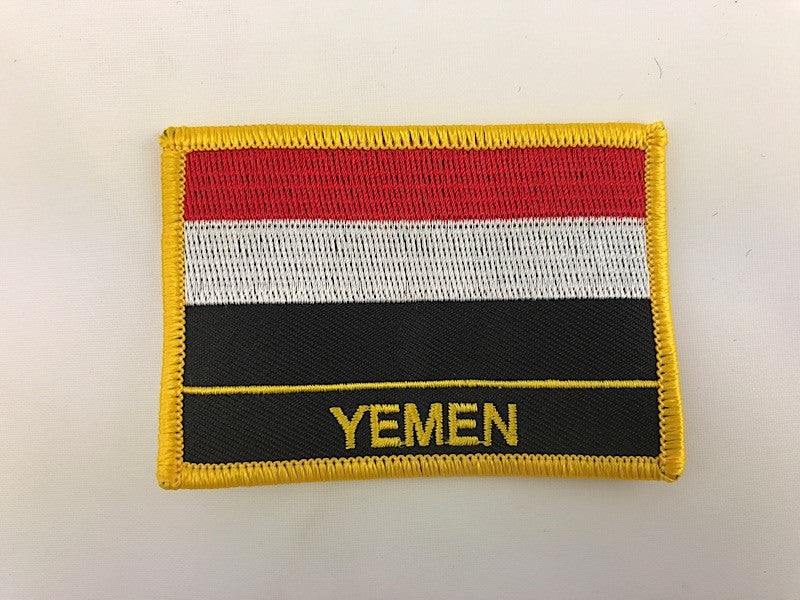 "2 1/4"" X 3"" Yemen Flag Embroidered Patch"