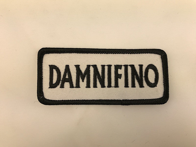 "1 1/2"" X 3 1/2"" Damnifino Embroidered Patch"