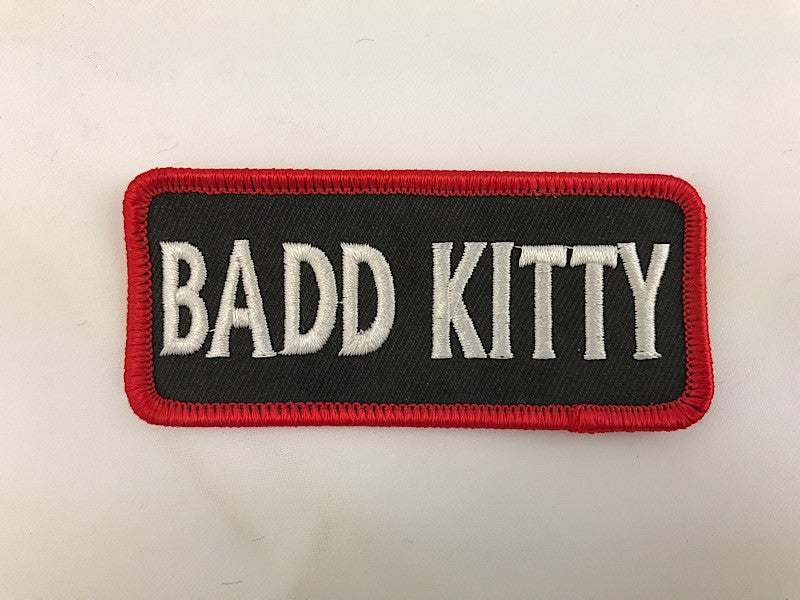 "1 1/2"" X 3 1/2"" Badd Kitty Embroidered Patch"