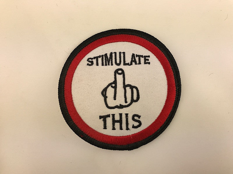 "3"" Stimulate This Middle Finger Embroidered Patch"