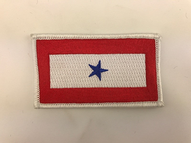 "2"" X 4"" Blue Star Service Flag Embroidered Patch"