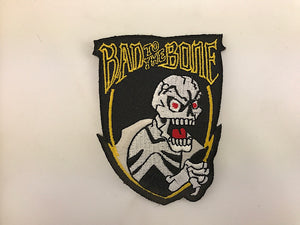 "3"" X 3 1/2"" Bad To The Bone Embroidered Patch"
