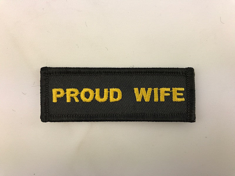 "1"" X 3"" Proud Wife Embroidered Patch"