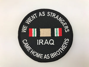 "3 1/2"" We Went As Strangers Came Home As Brothers Irag Embroidered Patch"