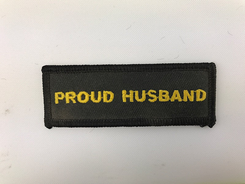 "1"" X 3"" Proud Husband Embroidered Patch"