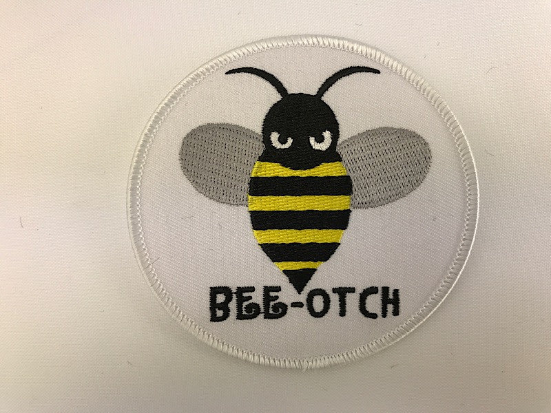 "3 1/2"" Bee-Otch Embroidered Patch"