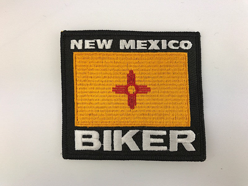 "3 1/4"" X 3 1/2"" New Mexico Biker Embroidered Patch"