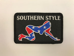"2"" X 3 1/2"" Southern Style Rebel Embroidered Patch"