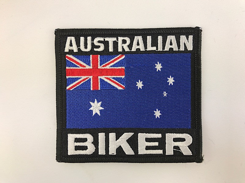"3 1/4"" X 3 1/2"" Australian Biker Flag Embroidered Patch"