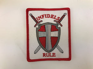 "3"" X 4"" Infidels Rule Embroidered Patch"
