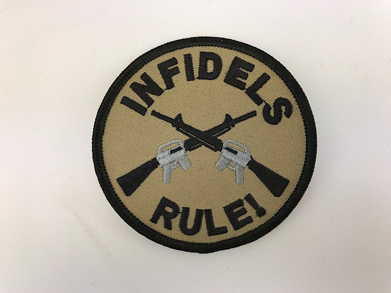 "3 1/2"" Infidels Rule! Embroidered Patch"