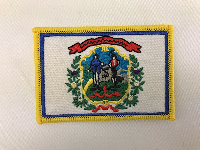 "2 1/4"" X 3 1/4"" West Virginia State Flag Embroidered Patch"