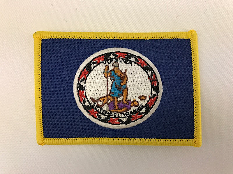 "2 1/4"" X 3 1/4"" Virginia State Flag Embroidered Patch"
