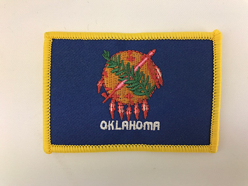 "2 1/4"" X 3 1/4"" Oklahoma State Flag Embroidered Patch"