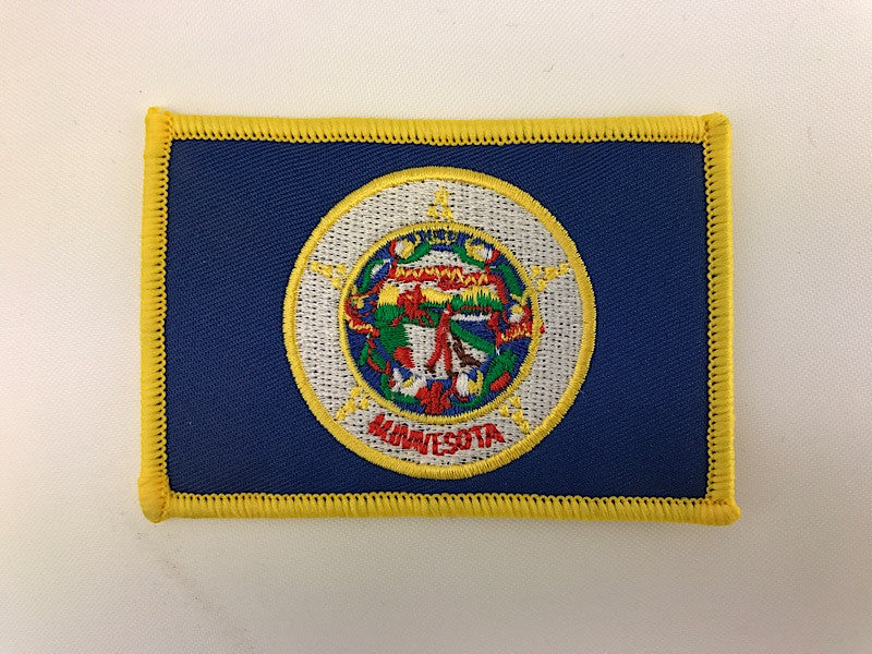 "2 1/4"" X 3 1/4"" Minnesota State Flag Embroidered Patch"