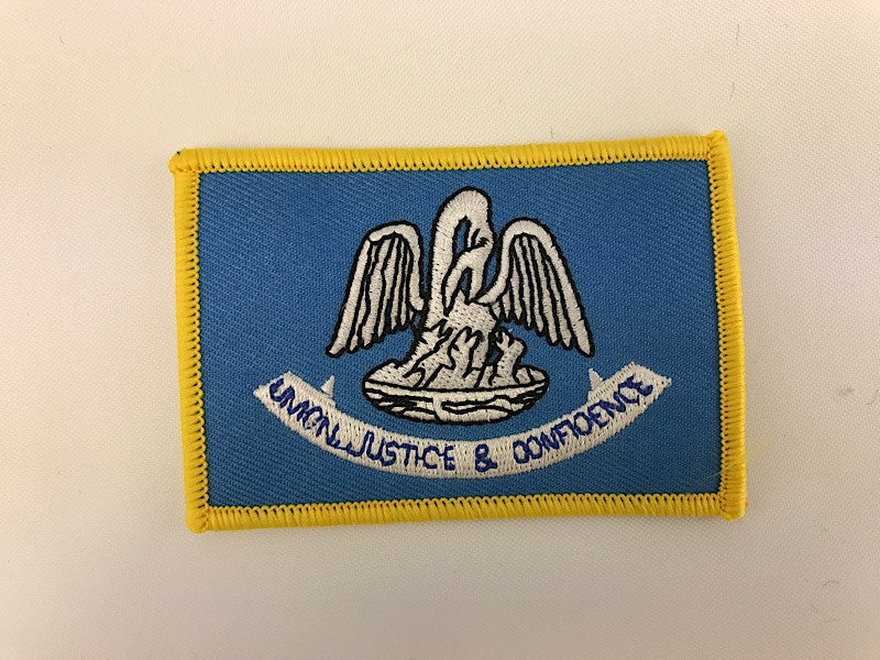 "2 1/4"" X 3 1/4"" Louisiana State Flag Embroidered Patch"