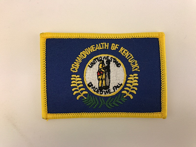 "2 1/4"" X 3 1/4"" Kentucky State Flag Embroidered Patch"