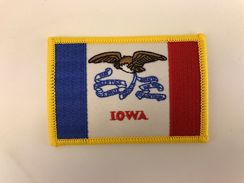 "2 1/4"" X 3 1/4"" Iowa State Flag Embroidered Patch"