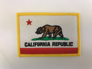 "2 1/4"" X 3 1/4"" California Republic State Flag Embroidered Patch"