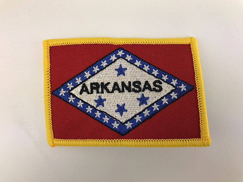 "2 1/4"" X 3 1/4"" Arkansas Republic State Flag Embroidered Patch"
